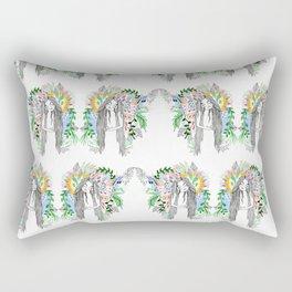 The flowers twins Rectangular Pillow
