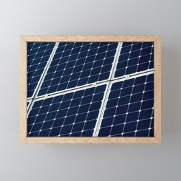 Image Of A Photovoltaic Solar Battery. Free Clean Energy For Everyone Framed Mini Art Print