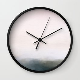 Pink Dawn on Grassland Wall Clock
