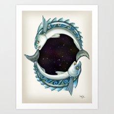 INKYFISH - Southern Hemisphere Art Print