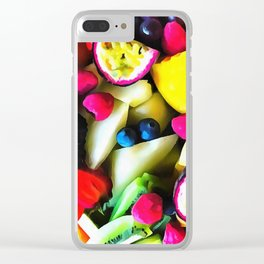 Tooty Frooty Clear iPhone Case