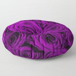 Purple roses Floor Pillow