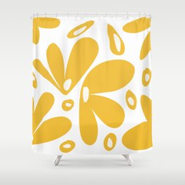 flower petals - yellow Shower Curtain