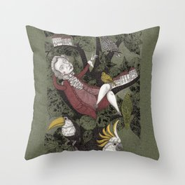 Wolfgang Amadeus Mozart--Seeing the Music Throw Pillow