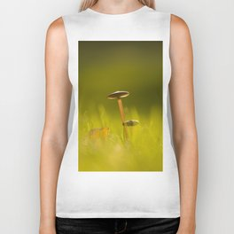 Small Mushrooms on Grass Autumn Scene #decor #society6 #buyart Biker Tank