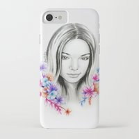 kardashian iPhone & iPod Cases featuring Kendall Jenner by Stephanie Recking