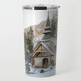 Cappella lago di Braies Travel Mug