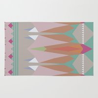 the mountains are calling Area & Throw Rugs featuring The Mountains Are Calling by NOxLA