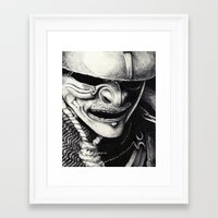samurai Framed Art Prints featuring Samurai  by Mjenai