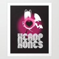 headphones Art Prints featuring ♥ HEADPHONES by THE SILENT P // Matthew Pfahlert
