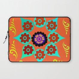 Talavera Tile Orange Laptop Sleeve