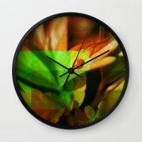 ladybug Wall Clocks featuring Ladybug  by SensualPatterns
