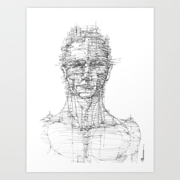 La Citta' senza Volto Art Print