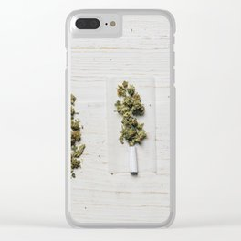 Evolution of weed Clear iPhone Case