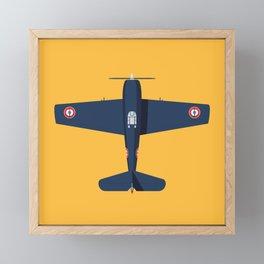 F6F Hellcat WWII Fighter Aircraft - French Framed Mini Art Print