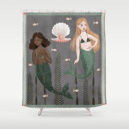 mermaid tapestry Shower Curtain