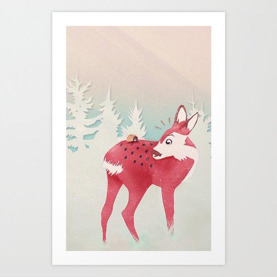 Oh deer, what the bug?! Art Print