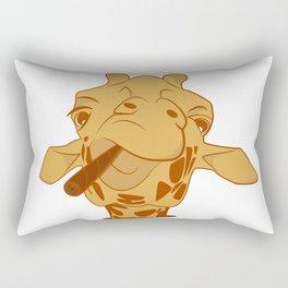 Giraffe with cigar Rectangular Pillow