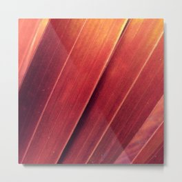 Rust and Gold Palm Fronds Metal Print