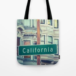 Retro California Street Sign Tote Bag