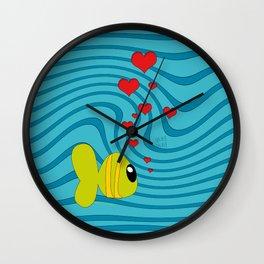 small fish Wall Clock