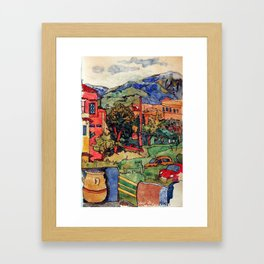 Crete island.Georgiopoli.Hotel Fereniki. Framed Art Print