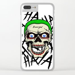 Laughing Skull Clear iPhone Case