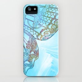 Colorful Abstract Butterfly Design iPhone Case