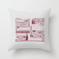wine Throw Pillows featuring Wine by Davide Rostirolla