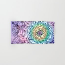 Purple Butterfly Mandala Hand & Bath Towel