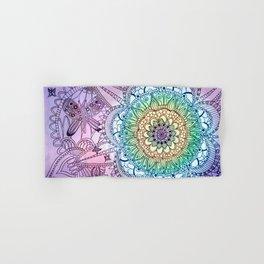 Purple Butterfly Mandala Hand & Bath Towel