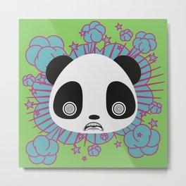 Psycho Panda Metal Print
