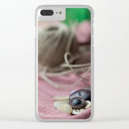 Old buttons. Clear iPhone Case