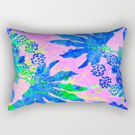 Tropical Adventure - Neon Blue, Pink and Green #tropical #homedecor Rectangular Pillow