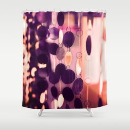 GLAM CIRCLES #Purple #1 Shower Curtain