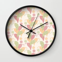 Flowers pattern 02 Wall Clock
