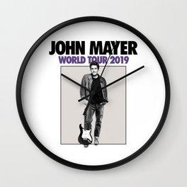 john mayer tour 2019 originally Wall Clock