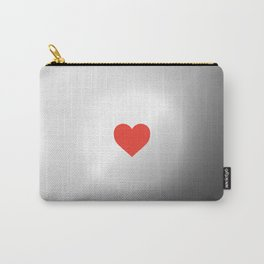 . SUN GRAY RED HEART Carry-All Pouch