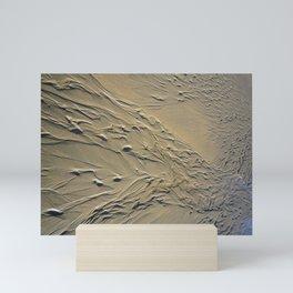 STREAMING BEACH SAND RIPPLES ABSTRACT Mini Art Print