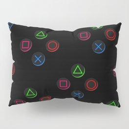 PS4 controller buttons neon aesthetics Pillow Sham