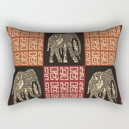 African Tribal Pattern No. 40 Rectangular Pillow