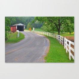 Summer at Jackson's Saw Mill Covered Bridge Canvas Print