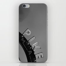 Seattle Pike Place Market Black and White iPhone & iPod Skin