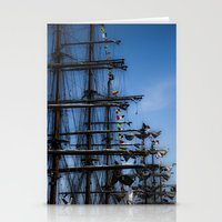 ships Stationery Cards featuring Tall ships by Stu Naranch