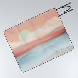 Mint Moon Beach Picnic Blanket