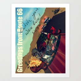 Ginny & Clutch (Greetings From Route 66) Art Print