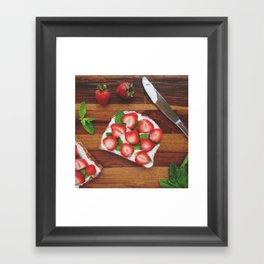 Strawberry, Cream Cheese and Mint Framed Art Print