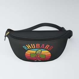 Retro Rhubarb Vintage Rhubard Strawberry Pie Day Fanny Pack