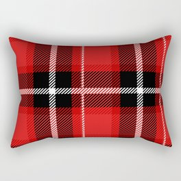Red + Black Plaid Rectangular Pillow