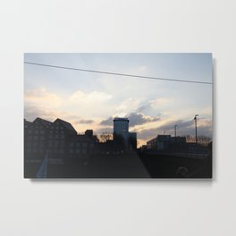 Sunset over skyline Metal Print